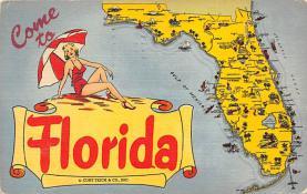 sub014383 - Come to Florida, USA  Postcard