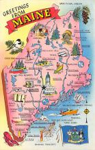 sub014387 - Greetings from Maine, USA  Postcard