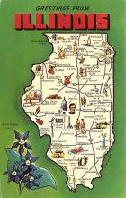 sub014391 - Greetings from Illinois, USA  Postcard