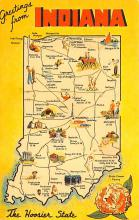 sub014445 - Greetings from Indiana, USA  Postcard