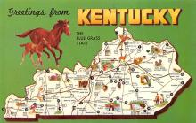 sub014453 - Greetings from Kentucky, USA The Blue Grass State Postcard