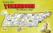 sub014509 - Greetings from Tennessee, USA The Volunteer State Postcard