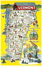 sub014523 - Greetings from Vermont, USA  Postcard