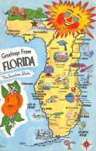 sub014525 - Greetings from Florida, USA The Sunshine State Postcard