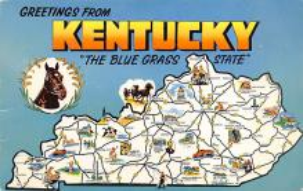 sub014527 - Kentucky, USA The Blue Grass State Postcard