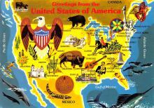 sub014547 - Greetings from The United States of America  Postcard
