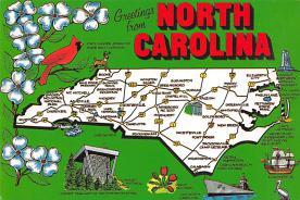 sub014555 - Greetings from North Carolina, USA  Postcard