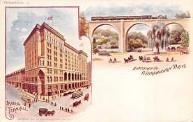 sub014569 - Entrance to Wissahickon Drive Philadelphia, PA, USA Postcard