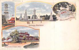 sub014581 - Catholic Fountain, Valley Green Bridge Philadelphia, PA, USA Postcard