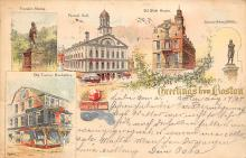 sub014585 - Greetings from Boston Boston, Mass., USA Postcard