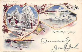 sub014629 - Niagara Falls, Winter New York, USA Postcard
