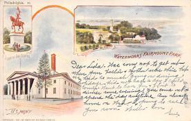 sub014673 - Waterworks Fairmount Park Philadelphia, PA, USA Postcard