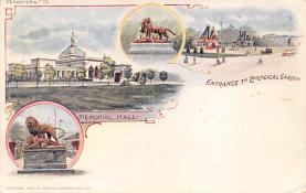 sub014687 - Entrance to Zoological Garden Philadelphia, PA, USA Postcard