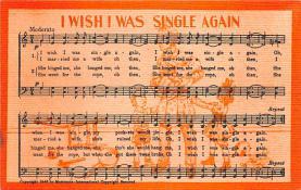 sub014745 - I Wish I Was Single Again  Postcard