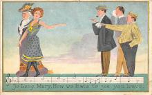 sub014785 - So Long, Mary, How we hate to see you leave.  Postcard