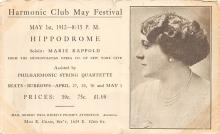 sub014803 - Harmonic Club May Festival Metropolitan Opera Co Postcard