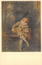 sub014817 - Man playing Guitar Jean Anttoine Watteau Le Mezzetin Postcard