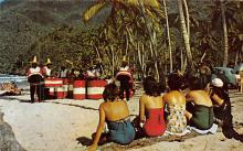 sub014833 - People playing instrumentsat the beach Maracas Bay, Trinidad B.W.I. Postcard