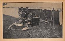 sub014837 - Band by a Tent  Postcard