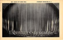 sub014845 - Radio City Music Hall Symphony Orchestra NY USA Postcard