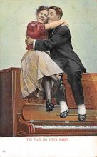 sub014867 - Man and Woman sitting on a Piano  Postcard