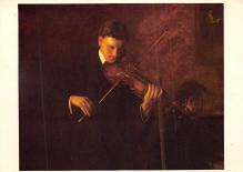 sub014955 - Man playig a string instrument  Postcard