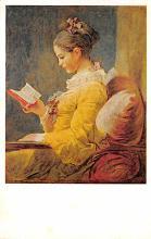 sub015057 - A Young Girl Reading National Art Gallery, Washington DC, USA Postcard