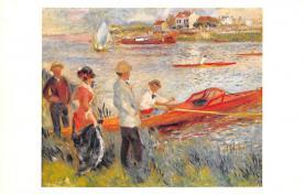 sub015109 - Oarsmen at Chatou Renoir Postcard
