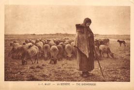sub015211 - The Shepherdess J F Millet Postcard