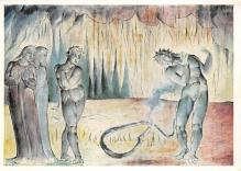 sub015263 - Buoso Donati attacked by the Serpent William Blake, non postcard backing Postcard