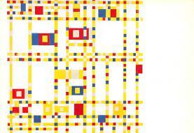 sub015287 - Broadway Boogie Woogie Piet Mondrian Postcard