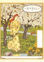 sub015339 - April Eugene Grasset Postcard