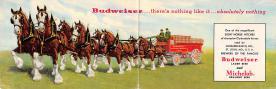 sub015351 - Budweiser Horses Double Postcard Postcard