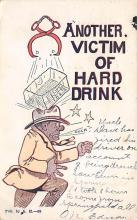 sub015405 - Another Victim of Hard Drink  Postcard
