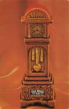 sub015487 - Grandfather clock Ezra Brooks Postcard