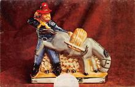 sub015491 - Miner with Donkey Ezra Brooks Postcard