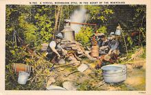 sub015601 - A typical moonshine still in the heart of the mountains.  Postcard