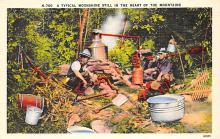 sub015609 - A typical moonshine still in the heart of the mountains.  Postcard