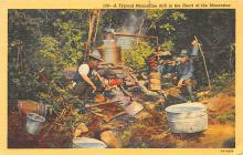 sub015649 - A typical moonshine still in the heart of the mountains.  Postcard