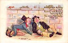sub015667 - Two Drunks  Postcard