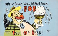 sub015669 - Full of Beer Artist Larry Smith Postcard