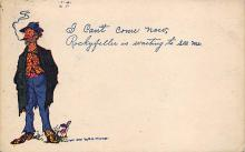 sub015671 - I can't come now, Rockyfeller is waiting to see me. Hobo Postcard