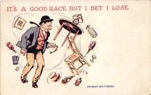 sub015681 - It's a good race but I bet I lose.  Postcard