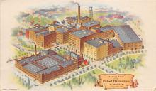 sub015703 - Aerial view of the Pabst Breweries Milwaukee, Wisconsin, USA Postcard