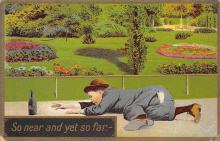 sub015719 - So near and yet so far, Drinking  Postcard