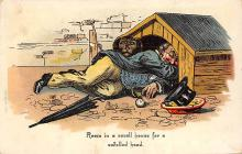 sub015721 - Man in the dog house  Postcard