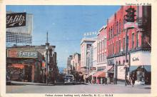 sub015743 - Patton Avenue, looking west Asheville, NC, USA Postcard