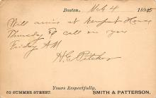 sub054427 - Postal Cards, Late 1800's Post Card