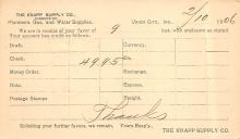 sub054541 - Postal Cards, Late 1800's Post Card