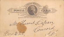 sub054779 - Postal Cards, Late 1800's Post Card